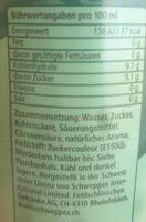 Schweppes Ginger Ale - Valori nutrizionali - fr