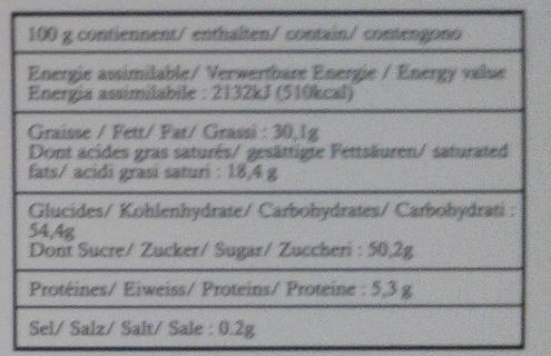 Passion - Informations nutritionnelles - fr