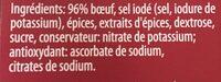 Viande des grisons - Ingrediënten