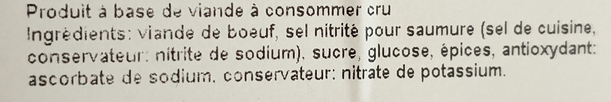 Viande séchée de boeuf - Ingredients - fr