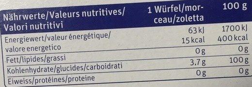 Sucre en morceaux - Valori nutrizionali - fr