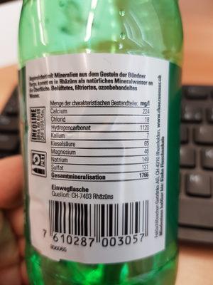 Rhäzünser Mineralwasser - Ingredients