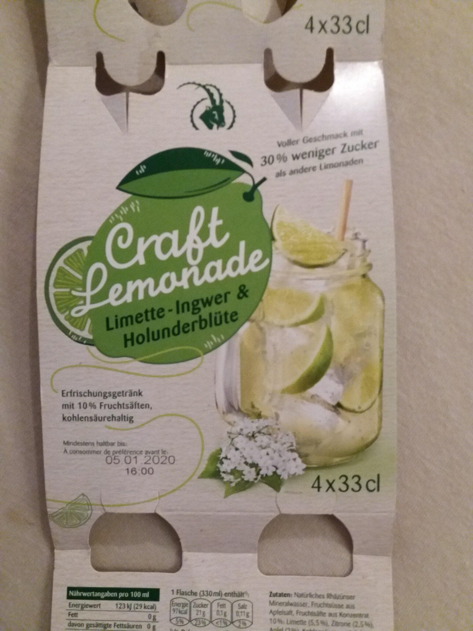 Craft limonade limette gingembre sureau - Produit