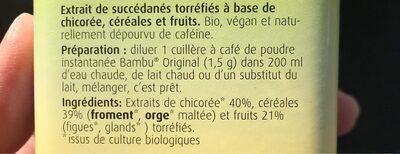 Café Aux Fruits Et Céréales - Ingrédients