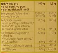 Café Aux Fruits Et Céréales - Informations nutritionnelles