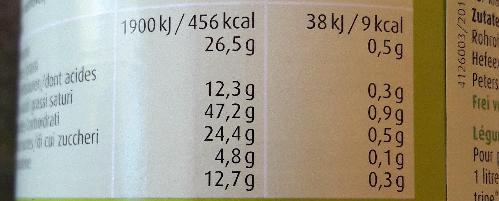 Herbamare - Plantaforce - Nutrition facts - fr