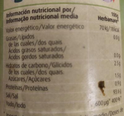Herbamare A. vogel Original - Informació nutricional - ca