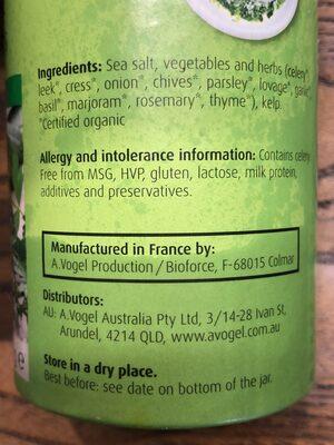 Herbed sea salt - Ingredients - en