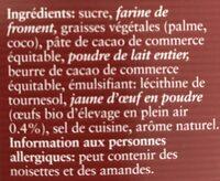 Crepes ectra fines fourees au chocolat - Ingredients
