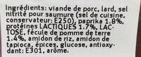 Salami Paprika Chips - Ingredients - fr