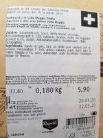 Salsiccia con pepe valle maggia - Informazioni nutrizionali - fr