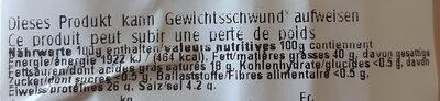 Salametti al peperoncino ticinese - Nutrition facts