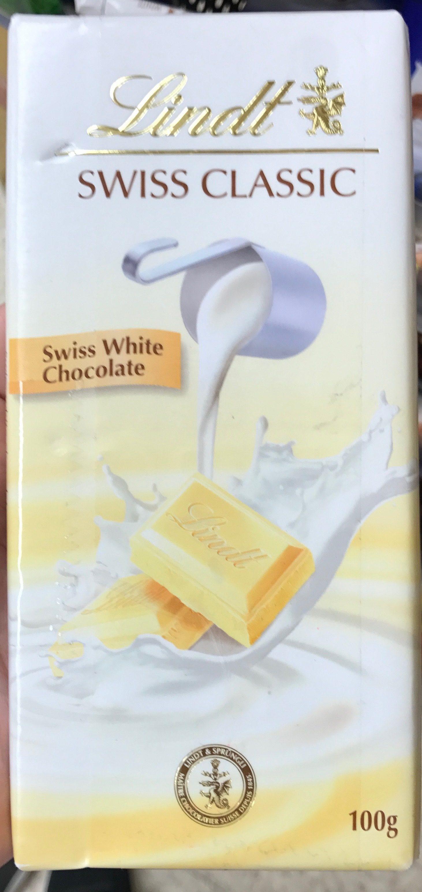 Swiss Classic White Chocolate - Lindt - 100 G - 产品 - en