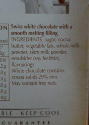 Chocolat Lindor White - Ingrédients - fr
