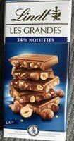 Les grandes - Chocolat au lait avec noisettes - Prodotto - fr