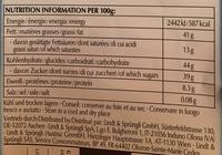 Les grandes - Chocolat au lait avec noisettes - Valori nutrizionali - fr