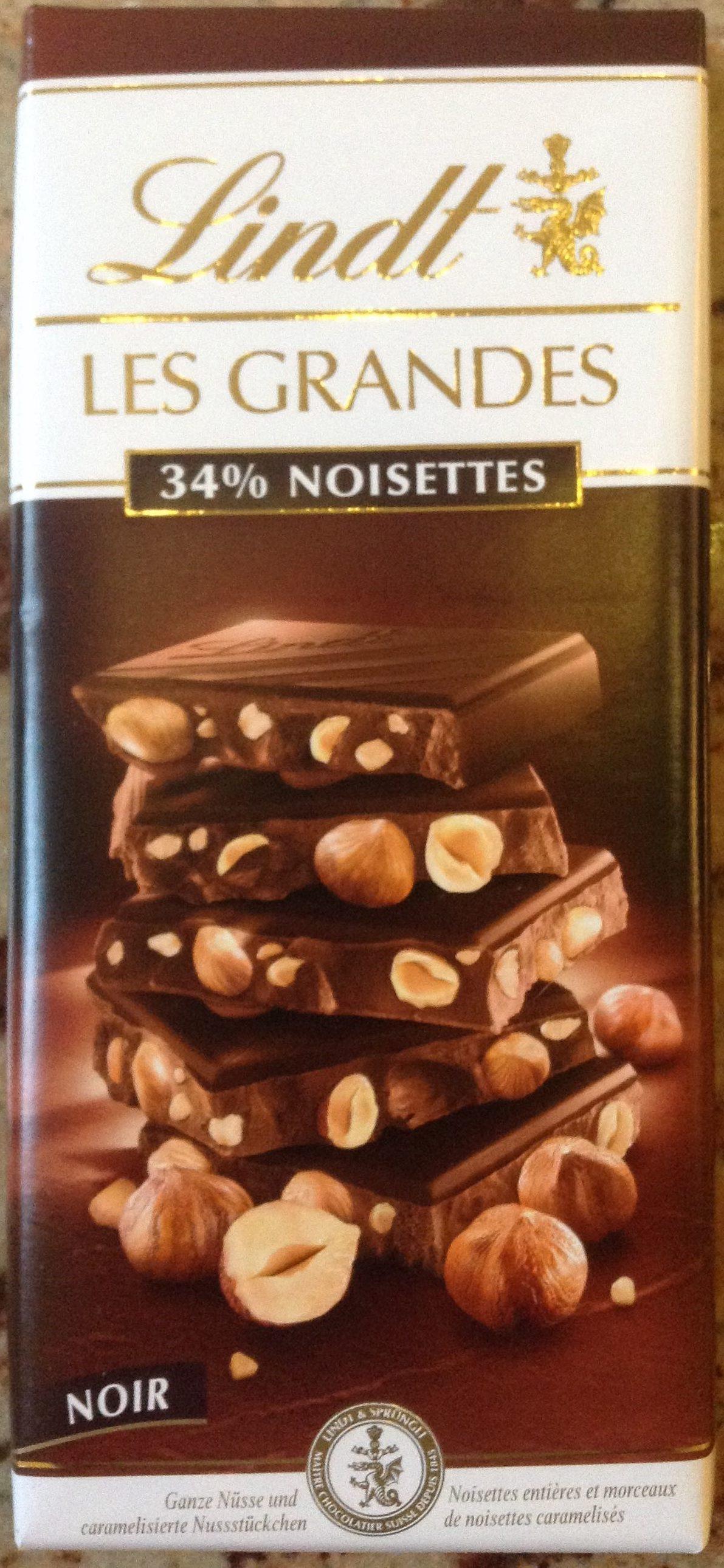 Les grandes noir 34% noisettes - Produit - fr