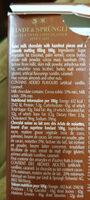 Chocolat Lindor Hazelnut Lindt (100G) - Ingredients