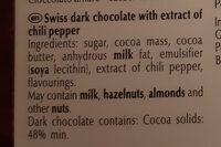 Excellence Dark Chilli - Ingredients - en