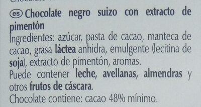 Excellence Chili Noir - Ingredientes - es