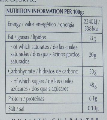 Excellence Chili Noir - Información nutricional - es