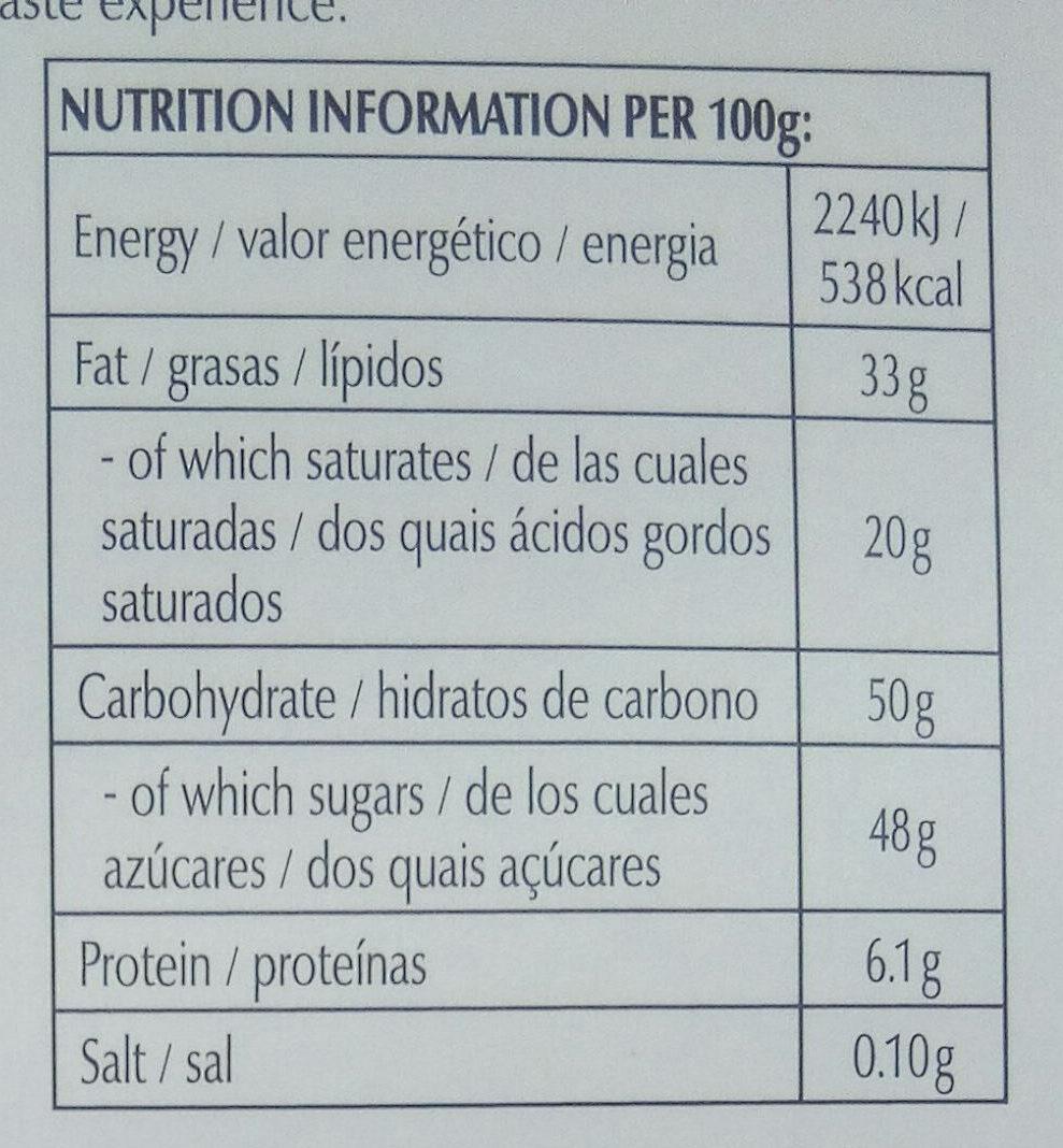 Excellence Dark Chilli - Valori nutrizionali - it