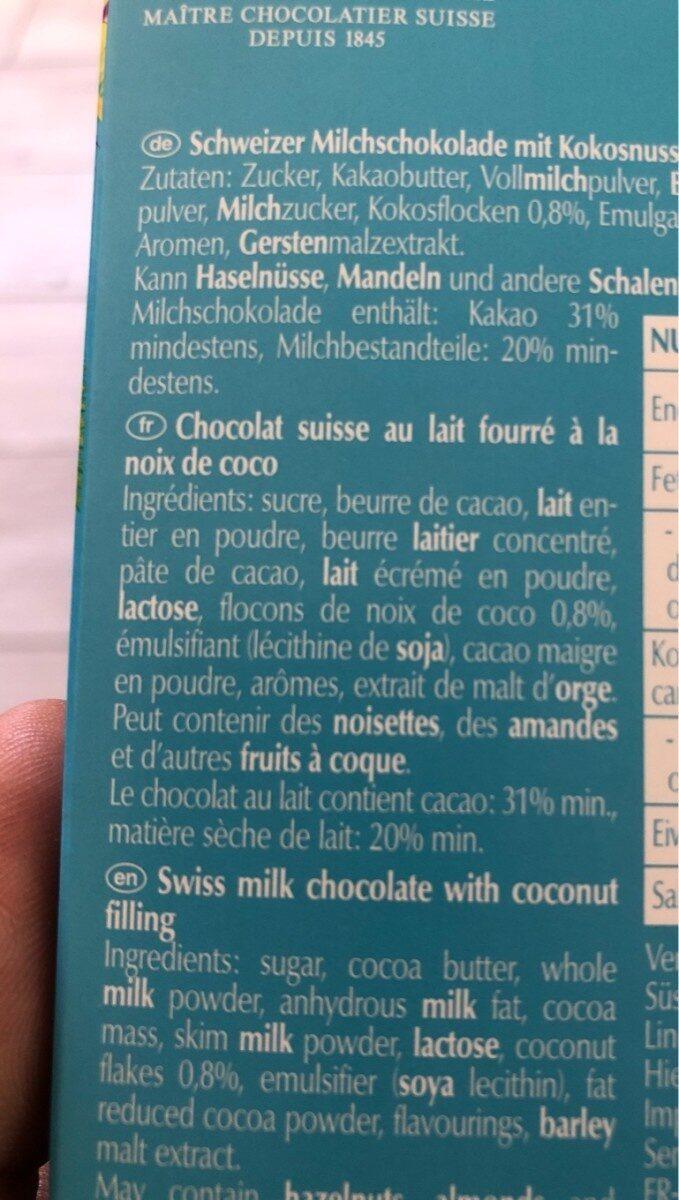 Chocletti - Ingredients - fr