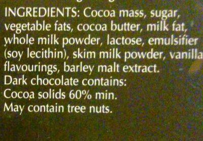 Lindor Extra Dark - Ingredients