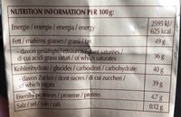 LINDOR l'infini fondant - Informations nutritionnelles - fr