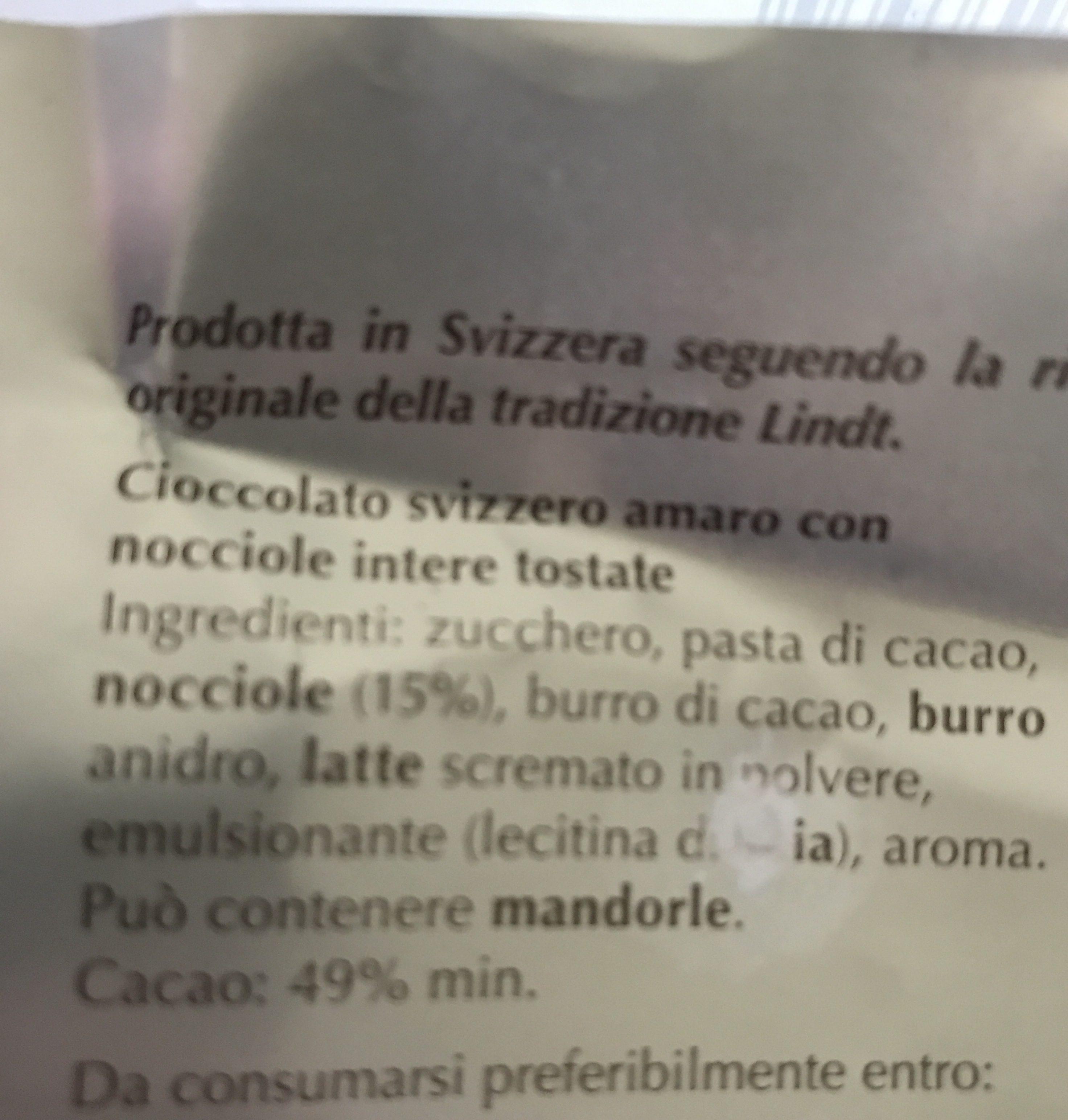 Lindt Premium Chocolat - Ingredientes - it