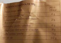 Lindt Premium Chocolat - Informação nutricional - it