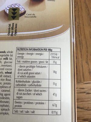 CONNAISSEURS - Ingredients