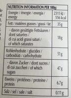 CONNAISSEURS - Nutrition facts