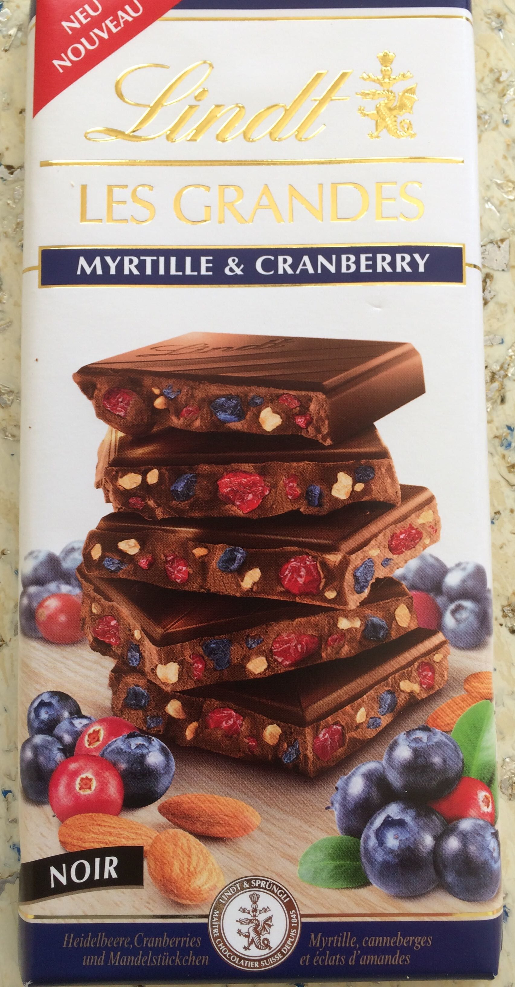 Lindt Les Grandes Myrtille - Producto