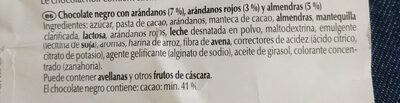 Lindt Les Grandes Myrtille - Ingredientes - es