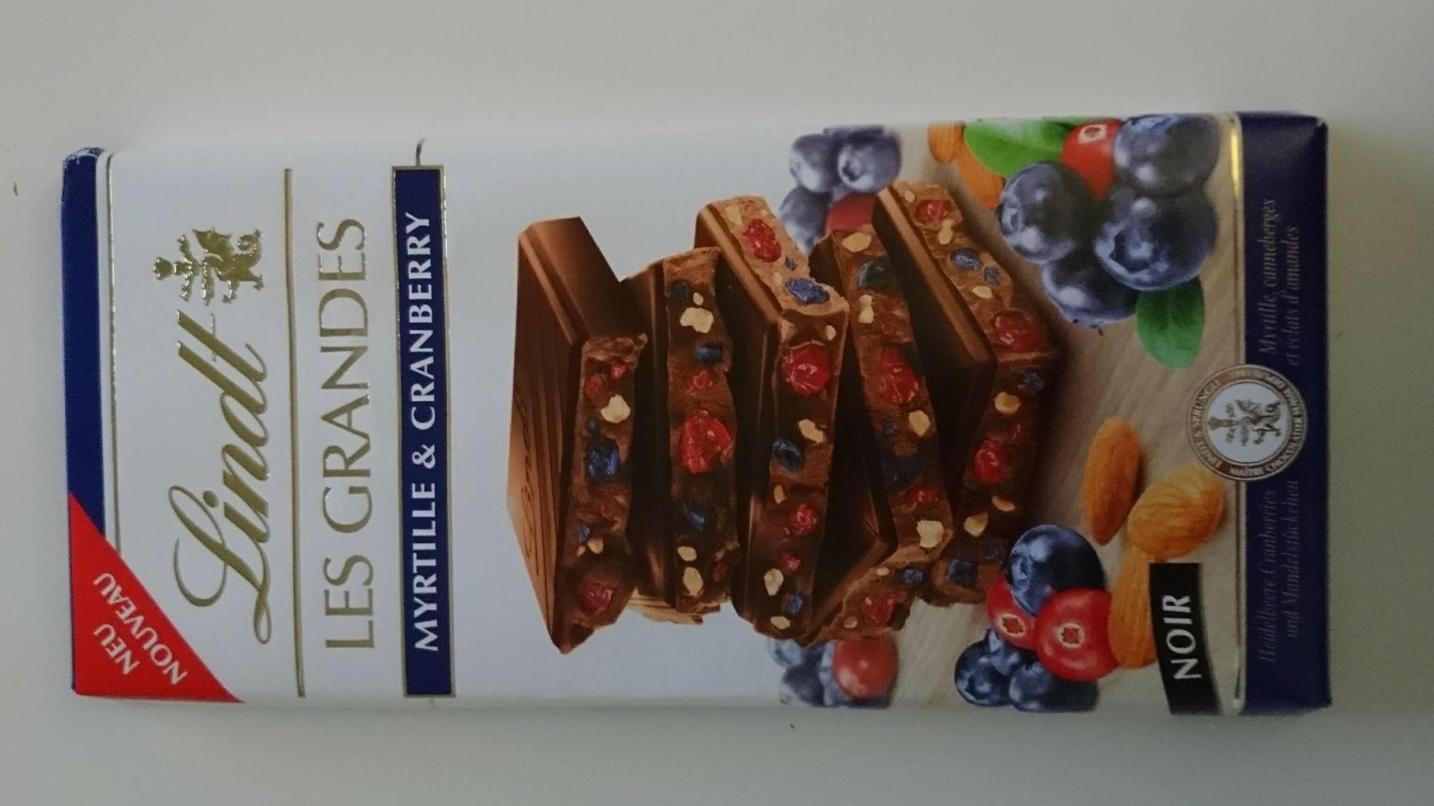 Lindt Les Grandes Myrtille - Información nutricional