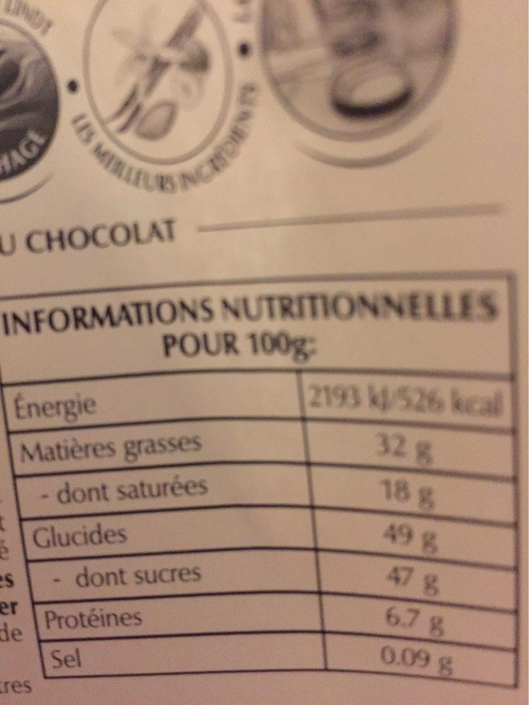 Poire intense - Informations nutritionnelles