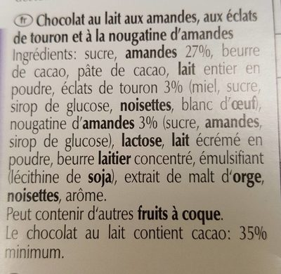 Les grandes nougat-amandes - Ingredients - fr