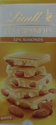 Les Grandes White 32% almonds - Produit - es