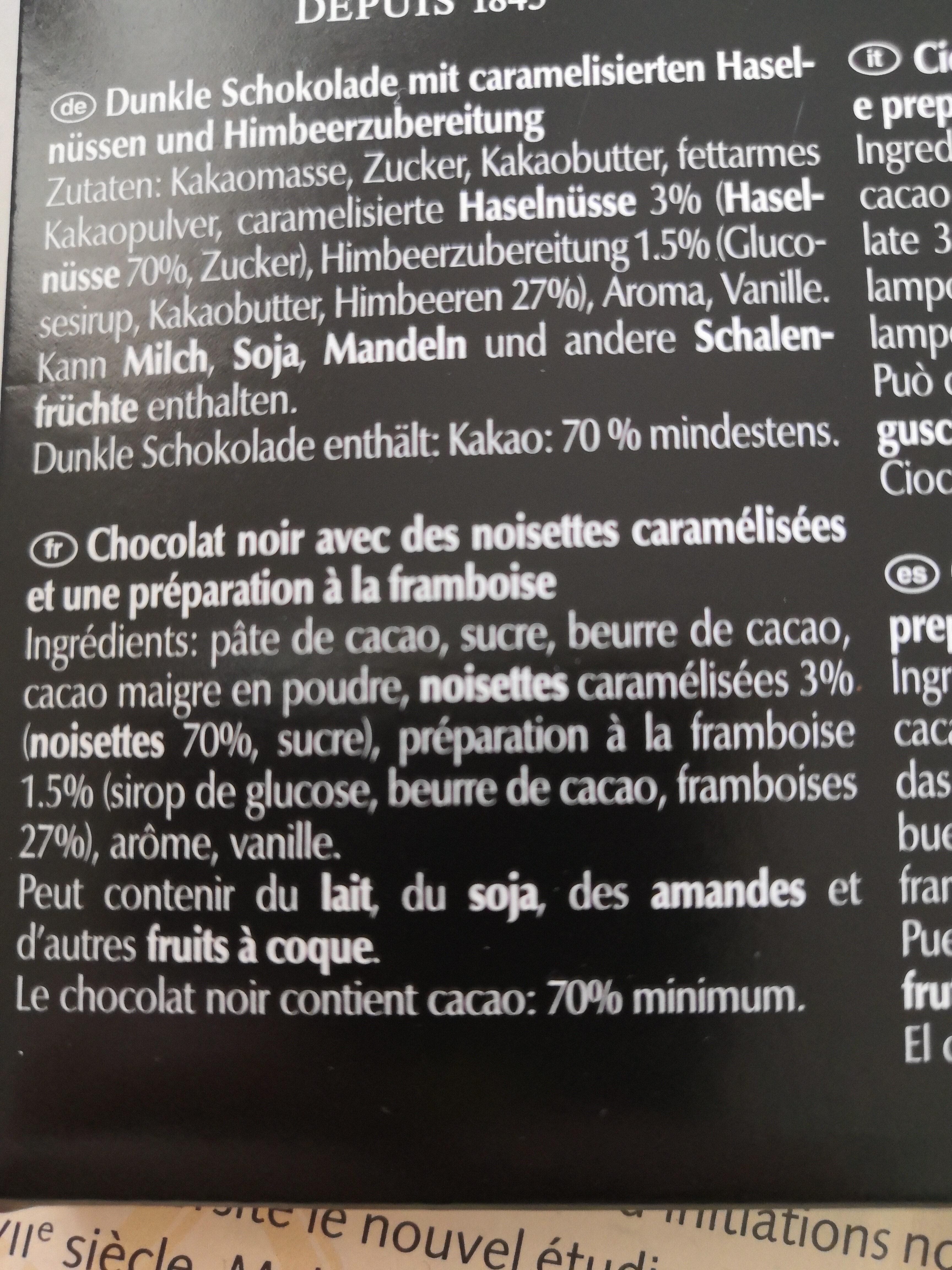 Framboise noisettes - Ingredienti - fr