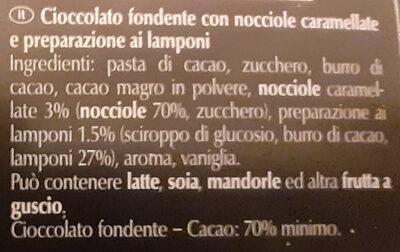 Framboise noisette 70% cacao - Ingredienti - it