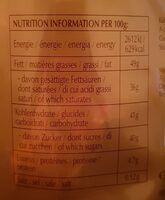 Cioccolatini - Informazioni nutrizionali - fr