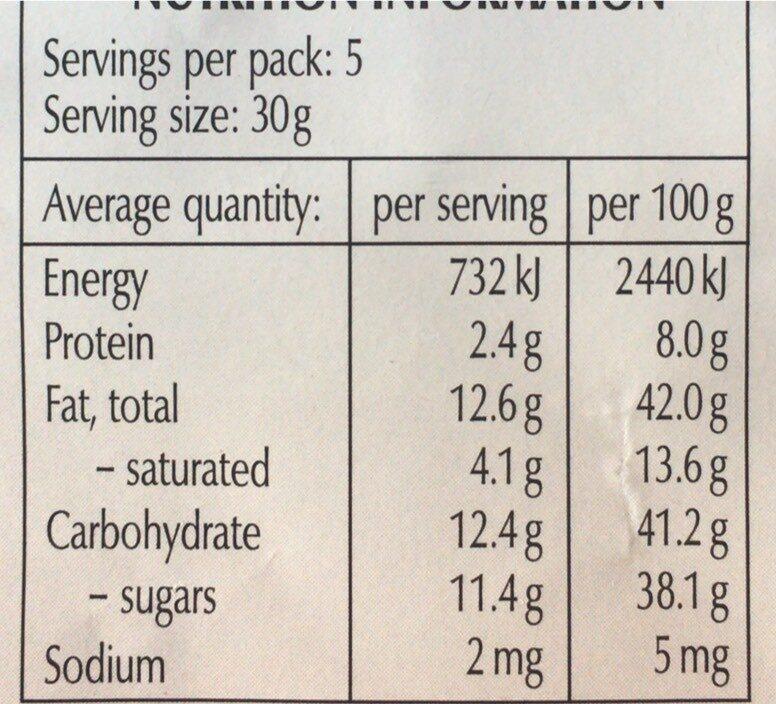 34% hazelnut dark chocolate - Informations nutritionnelles - en