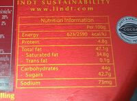 Lindor - Voedingswaarden - en