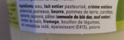 Soupe de Chalet - Ingrediënten - fr