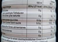 Bio Ice Tea - Informations nutritionnelles