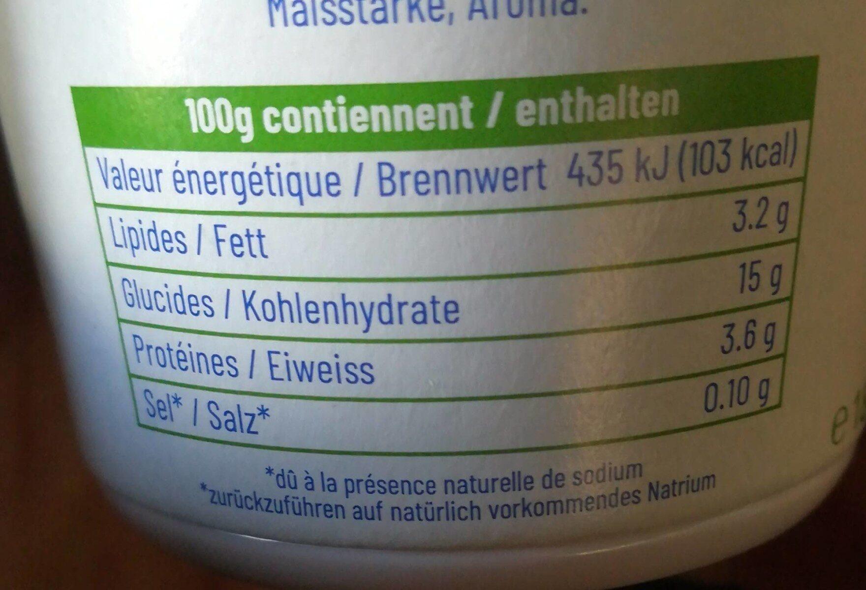 Yogourt myrtille Cremo® - Informations nutritionnelles