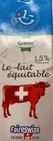 LAit équitable UHT 1,5 mg 1 L - Prodotto - fr