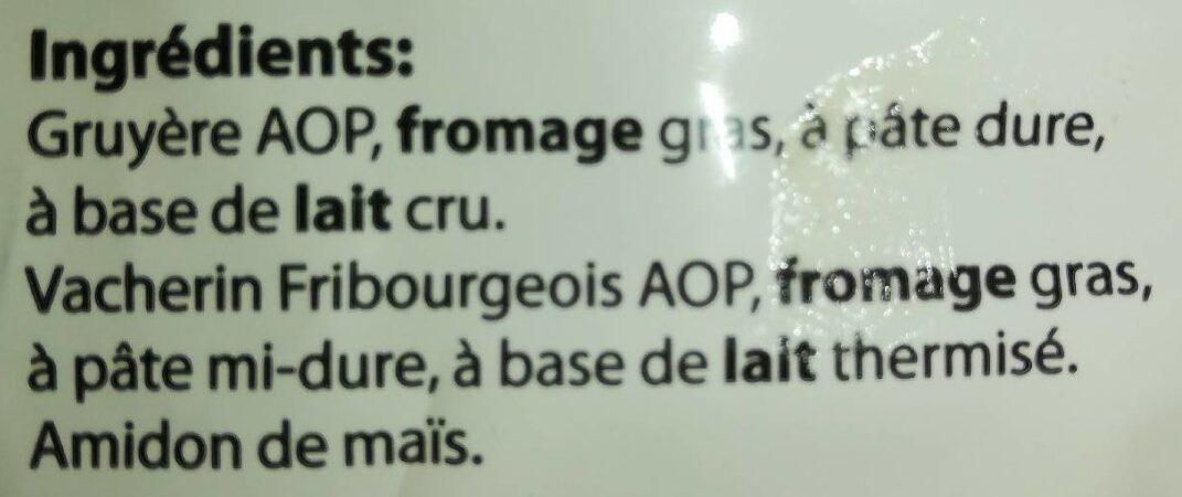 Fondue moitié-moitié Vacherin & Gruyère - Ingredients - fr