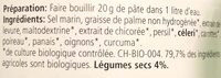 Bouillon des legumes - Ingredients - en